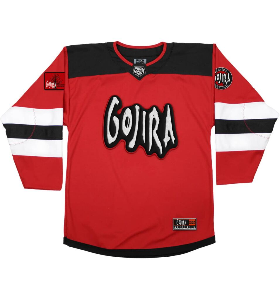 gojira a skate to behold jersey red front